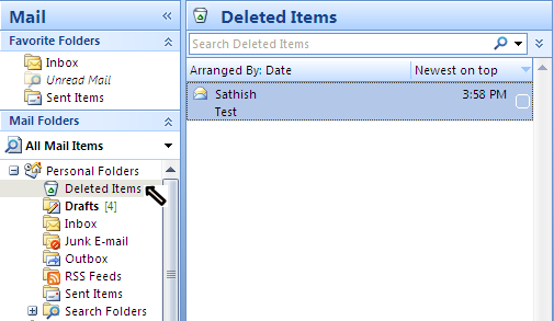 How to Recover Deleted email in Outlook