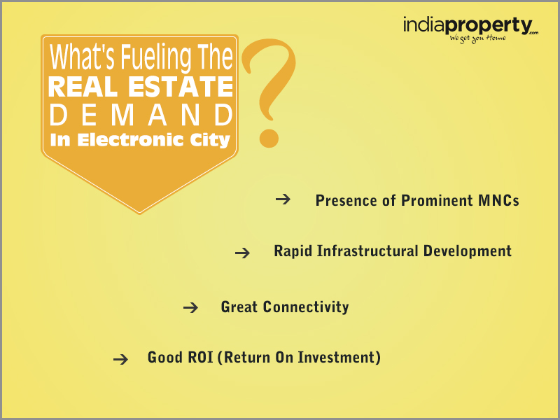 What's fueling the real estate demand in Electronic City