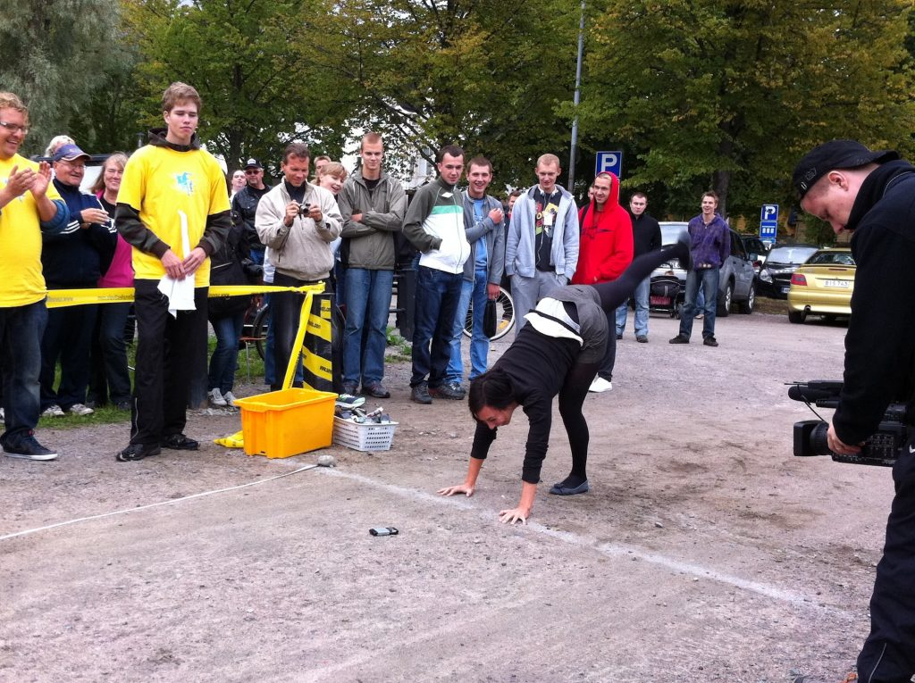 Unique Sports that exist Mobile Phone Throwing Championships Freestyle format